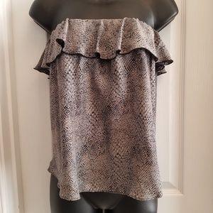 Amanda Uprichard Silk Reptile sleeveless blouse